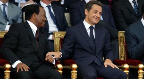 Paul Biya et Nicolas Sarkozy, Paris, juillet 2010 © REUTERS/Benoit Tessier