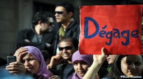 Le 14 janvier 2011 à Tunis © Rim Temimi