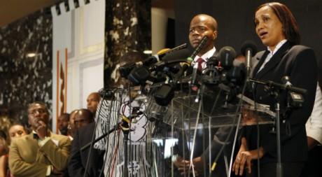 Conférence de presse de Nafissatou Diallo au Centre culturel chrétien de Brooklyn, le 28 juillet 2011. REUTERS/Shannon Stapleton