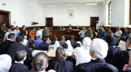 Le procès des proches de Ben Ali et de son épouse le mercredi 10 août à Tunis. REUTERS/Zoubeir Souissi