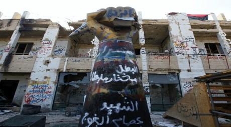 La forteresse de Kadhafi, Bab al-Azizia, après le passage des rebelles à Tripoli le 26 août REUTERS/Anis Mili