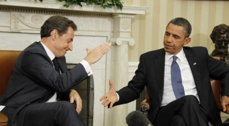 Nicolas Sarkozy et Barack Obama à la Maison blanche, janvier 2011 © REUTERS/Jason Reed