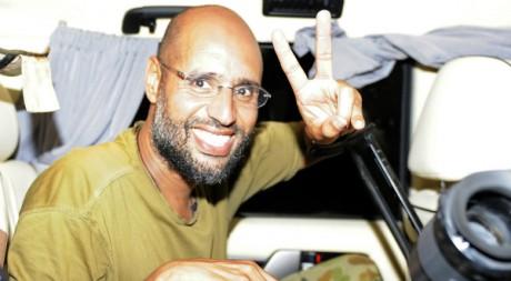 Seif al Islam à Tripoli, le 23 août 2011. REUTERS/Paul Hackett