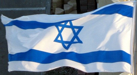 Israeli flag flapping_0514c, by hoyasmeg via Flickr CC