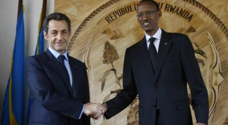 Paul Kagamé et Nicolas Sarkozy, Kigali, février 2010. © REUTERS/POOL New