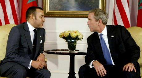 Mohammed VI et George W. Bush, le 23 septembre 2033 à New York, Etats-Unis REUTERS/Larry Downing