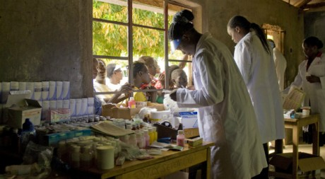 U.S. Army medical researchers take part in World Malaria Day 2010, Kisumu, Kenya April 25, 2010, by US Army Africa via Flickr CC