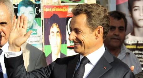 Sarkozy en visite à Benghazi, le 15 septembre 2011. REUTERS /Esam Al-Fetori
