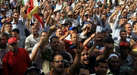 Des milliers d'enseignants égyptiens en grève manifestent au Caire, le 24 septembre 2011. AFP PHOTO/KHALED DESOUKI