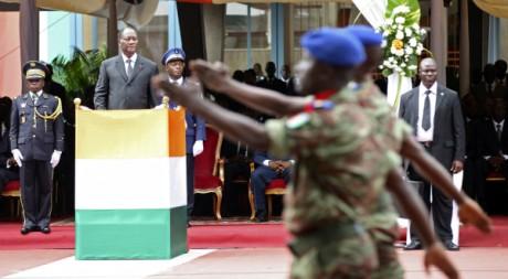 Cérémonie du 51e anniversaire de l'indépendance de la Côte d'Ivoire, le 7 août 2011. REUTERS/Luc Gnago