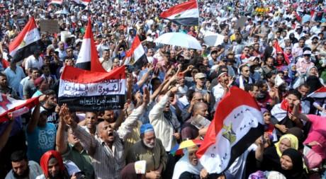 Des Egyptiens manifestent contre la gestion de la transition par l'armée, le 30 septembre 2011. AFP PHOTO/MOHAMMED HOSSAM