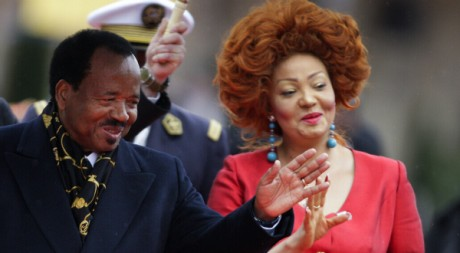 Chantal et Paul Biya à Montreux en Suisse, octobre 2010 © Valentin Flauraud / Reuters