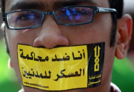 """""""Je suis contre les tribunaux militaires pour les civils"""" Amr Dalsh/Reuters"""