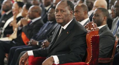 Le président Alassane Ouattara à Abidjan, le 10 mai 2011. REUTERS/Luc Gnago