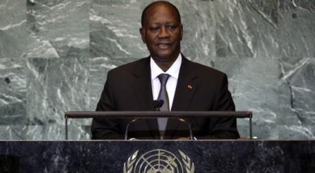 Le président Alassane Ouattara à New York, 22 septembre 2011. REUTERS/Shannon Stapleton