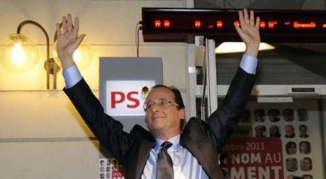 François Hollande le soir de sa victoire aux primaires citoyennes (2011) REUTERS/Gonzalo Fuentes