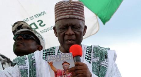 John Fru Ndi en campagne (2011) REUTERS/Akintunde Akinleye