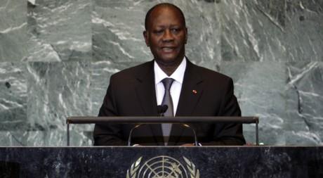 Alassane Ouattara à New York, le 22 septembre 2011. REUTERS/ Shannon Stapleton