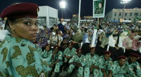 Les amazones de Mouammar Kadhafi lors du 30ème anniversaire de la révolution libyenne.AFP/RAMZI HAIDAR