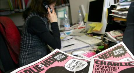 La rédaction de l'hebdomadaire Charlie hebdo. Regis Duvignau/Reuters