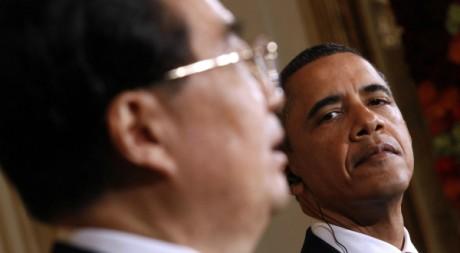 Les présidents chinois Hu Jintao et américain Barack Obama, 19 janvier 2011. REUTERS/Kevin Lamarque