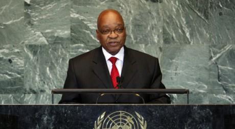 Jacob Zuma aux Nations Unies, le 21 septembre 2011. Chip East/REUTERS