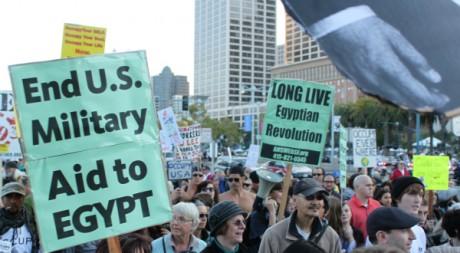 Manifestation en soutien à l'Egypte à San Francisco le 14 novembre 2011. DR