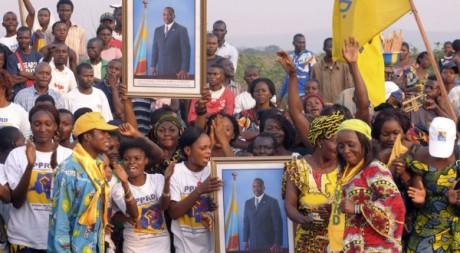 Manifestation en faveur du président Joseph Kabila, Kinshasa. REUTERS
