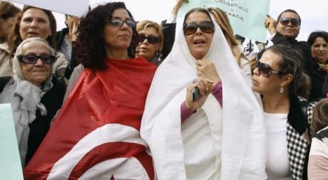 Manifestation contre le parti Ennahda à Tunis, le 2 novembre 2011. REUTERS/Zoubeir Souissi