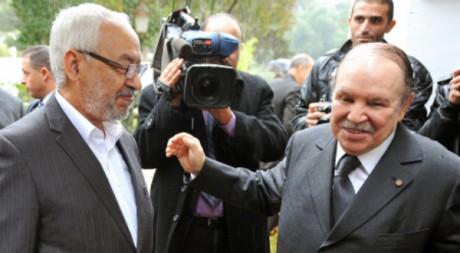 Visite officielle de Rached Ghannouchi en Algérie le 21 novembre 2011. AFP/FAROUK BATICHE