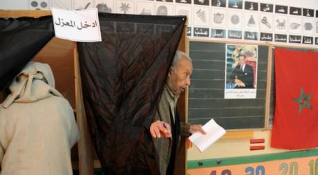 Bureau de vote à Rabat pour les élections législatives, le 25 novembre 2011 à Rabat. AFP/ABDELHAK SENNA
