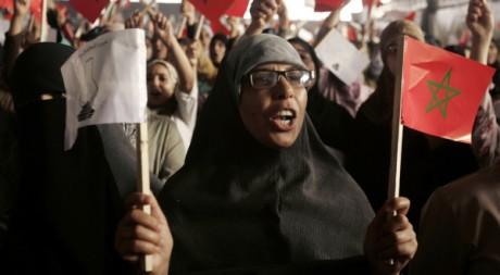 Des électeurs du PJD, à Casablanca, le 26 août 2007. REUTERS/Rafael Marchante
