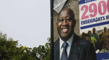 Affiche de Gbagbo, Abidjan, avril 2011. REUTERS/Finbarr O'Reilly