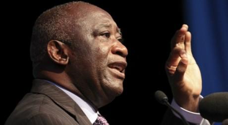 Laurent Gbagbo, lors de sa déclaration de candidature à l'élection présidentielle, Abidjan, octobre 2010. REUTERS/Luc Gnago