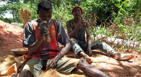 Chercheurs d'or de Kambele, au Cameroun, le 3 juin 2008. AFP/Fanny Pigeaud