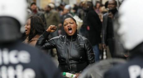 Manifestation de soutien à Etienne Tshisekedi à Bruxelles le 5 décembre 2011. Reuters/Francois Lenoir