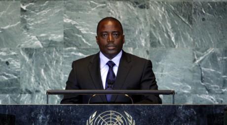 Joseph Kabila devant l'Assemblée générale de l'ONU, le 22 septembre. REUTERS/Chip East