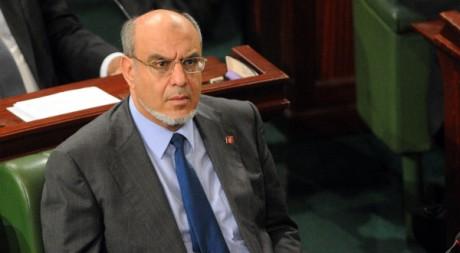 Hamadi Jebali, le Premier ministre tunisien à l'assemblée nationale, le 8 décembre 2011. AFP/ FETHI BELAID