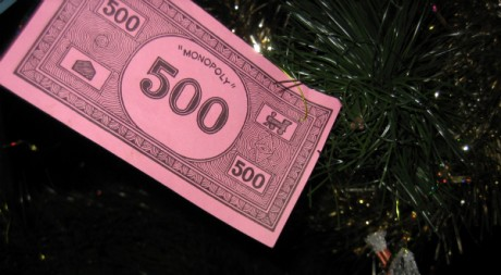 Monopoly money at Christmas, by Howard Lake via Flickr CC