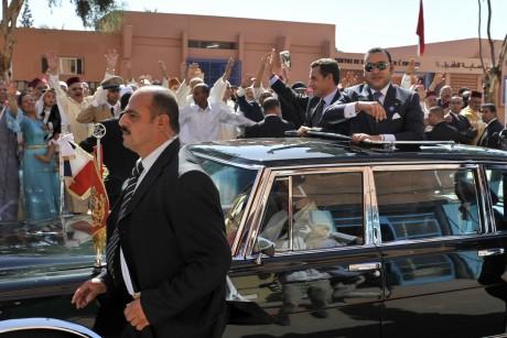 Mohammed VI et Nicolas Sarkozy à Marrakech, le 27 octobre 2007.