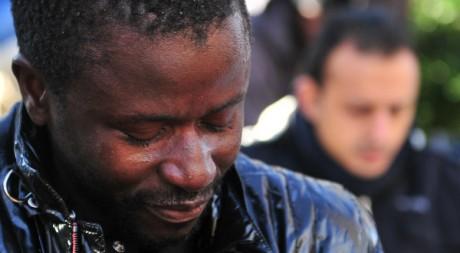 Marche anti-raciste à Florence en mémoire des deux Sénégalais tués le 17 décembre 2011. AFP/ALBERTO PIZZOLI