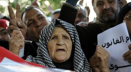 Manifestation à Tunis le 11 janvier 2012. AFP/FETHI BELAID