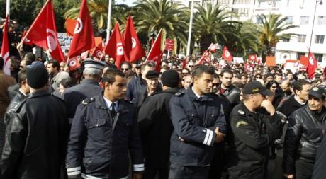 Manifestation à Tunis, le 28 janvier 2012. REUTERS/ Zoubeir Souissi
