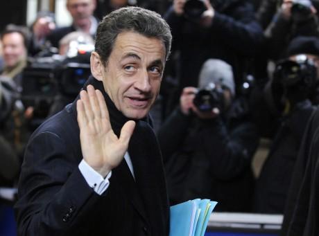 Nicolas Sarkozy lors d'un sommet à Bruxelles, le 30 janvier 2012. REUTERS/STRINGER Belgium