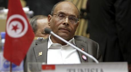 Le président tunisien Moncef Marzouki lors du sommet de l'Union africaine à Addis Ababa, le 31 janvier 2012. REUTERS/Noor Khamis