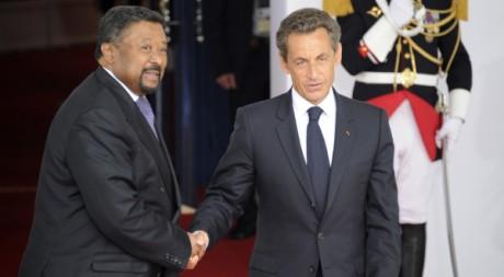 Jean Ping et Nicolas Sarkozy, le 27 mai 2011. REUTERS