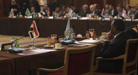 Réunion de la Ligue arabe au Caire le 12 février 2012. Reuters/Mohammed Salem