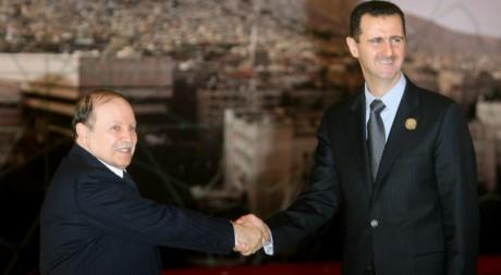Visite officielle d'Abdelaziz Bouteflika à Damas le 29 mars 2008. AFP/AWAD AWAD