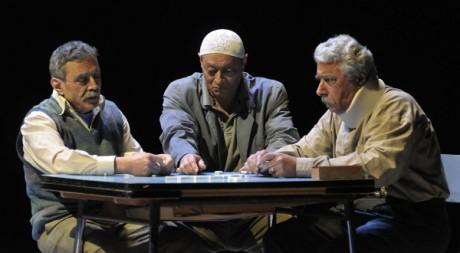 Scène de la pièce de théâtre Invisibles. Philippe Delacroix