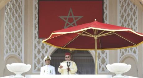 Le roi Mohammed VI fait un discours depuis le palais de Tétouan, le 31 juillet 2011. REUTERS/Handout